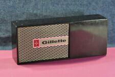 """""""Gillette""""  Original  Black  Empty  Plastic  box  Only   c.1980's"""
