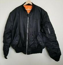 Knox Armory Reversible Flyers ManIntermediate Jacket Black Orange Zip Pockets XL