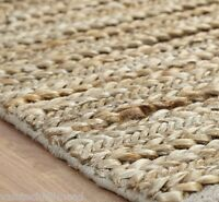 TheRealRugCompany Crestwood Braid Jute Area Natural Rug - 140 x 200 cm