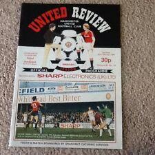 Man United Review Vol 45 No.19 v Sunderland Played 25/2/1984