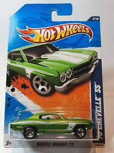 HOT WHEELS 2011  70 CHEVELLE SS MUSCLE MANIA