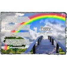 RAINBOW BRIDGE Pet Dog / Cat Memorial Slate Plaque - Personalised!