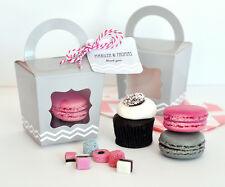 96 Personalized Cupcake 'n' Treats Tote Boxes Bridal Shower Wedding Favor Boxes