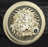 NEW LION LUXURY PIN BUCKLE ONLY FOR 38 MM BELTS ROUND DESIGNER BELT BUCKLES