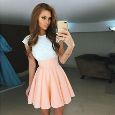 Women Lace Dress Prom Evening Party Cocktail Wedding Bridesmaid Short Mini Dress