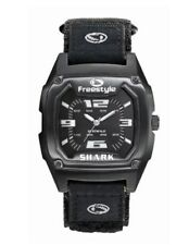 NEW Freestyle MIDNIGHT BLACK MTL SHARK CLASSIC Nylon Water Proof Watch 7890111