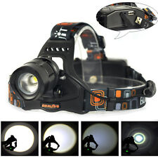 USB Rechargeable 5000LM XM-L L2 LED 18650 Zoomable Headlamp Headlight Head Torch