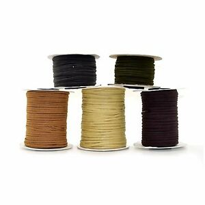Eco Leather/Suede Cord 3mm Flat Rustic String - 5 Colours x 2 metres
