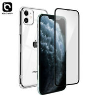 For iPhone 11/Pro/Max/XS/XR Full Protect Tempered Glass Screen Cover + TPU Case