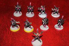 Warhammer Blood Bowl dark elf team !st edition x 9 (metal) painted