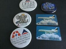 Vintage Buttons Pins Delta Airlines Lot of 4 pins 2 calendars