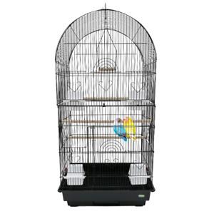 Heritage Large 2 Door Double Bird Cage 90x36x47CM Parakeet Budgie Cockatiel Cage