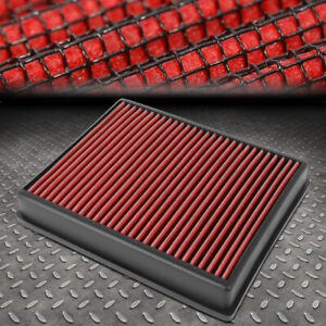 FOR 15-20 FORD EDGE 2.0/2.7/3.5L WASHABLE DROP-IN AIR FILTER INTAKE PANEL RED