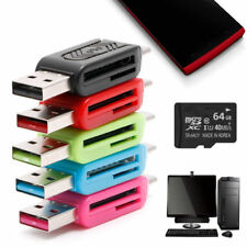 2-IN-1 Micro USB 2.0 OTG SDXC TF SD Memory Card Reader For Android Smartphone PC