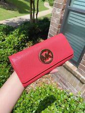 NWT Michael Kors FULTON Carryall Wallet Flap Watermelon