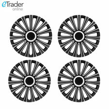 """4 x 16"""" Ford Transit Connect Wheel Trims Hubcaps 2013> NEW SHAPE Black & Silver"""