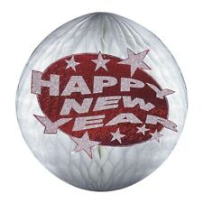 SILVESTER DEKO WABENBALL Sylvester Party Happy New Year Honeycomb Dekoration Rot