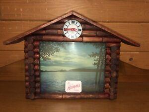 Hamms Beer Clock Log House