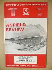 1970 European Fairs Cup - LIVERPOOL v FERENCVAROS