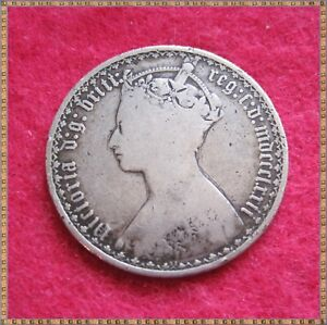 1872 VICTORIA SILVER GOTHIC FLORIN TWO SHILLINGS (2/-) COIN. MDCCCLXXII.