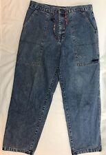 Vintage Tommy Hilfiger Jeans Men's Size 36x32 Tommy Flag Logo Carpenter Draw Str