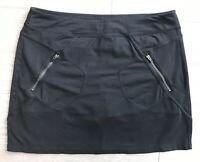 Athleta Women's Metro Black Zip Pocket Black Stretch Above Knee Skort Sz L
