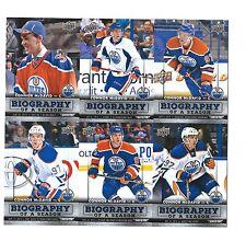 2015-16 Upper Deck Hockey Biography Of A Season 12 card set - McDavid / Gretzky