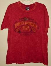 Biker Motorcycle Shirt Red Harley Davidson Short Sleeve Texas Size L