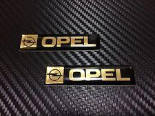 Opel Gold Black Car Emblem Badge 2 pieces