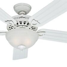 Hunter Fan 52 inch Outdoor White Ceiling Fan with Bowl Light Kit
