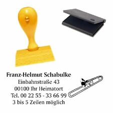Adressenstempel « POSAUNE » mit Kissen - Firmenstempel - Musiklehrer Trompete