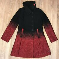 Desigual Style 27E2928 rare ladies womens black red coat size 40
