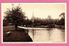 The River and  Church. Stratford upon Avon. Card is unposted
