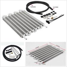 Aluminum 8 Row T-6061 Transmission Oil Cooler/Auto Manual Radiator Converter Kit