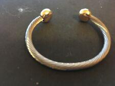 cuff bracelet two tone