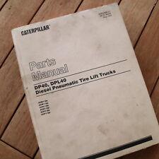 Caterpillar DP40 DPL40 Forklift Parts Manual book catalog spare list lift truck