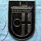 Mij- Boot Datteln German Navy Ship Metal Tampion Plaque Crest