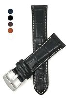 18-30mm Extra Long (XL) Leather Watch Band Strap, Alligator style, 5 colors