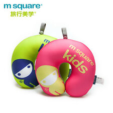 M SQUARE Travel Accessory soft headrest neck pillows kids Pink