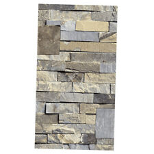 3D Wall Paper Brick Stone Effect Self-adhesive Wall Stickers  Decor-Khaki