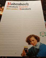 Rodenbach Poster/Menu Board - 1986