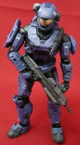 McFarlane Toys Halo Reach Blue Spartan Military Action Figure Assault Rifle
