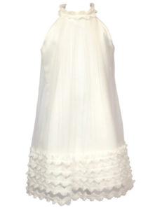 Sly Mädchen Kleid Festlich Party Hochzeit Kommunion Einschulung Rüschen Vanille