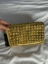 Vintage Versace Jeans Gold Clutch Handbag