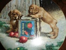 River Shore Collectors Plate DOUBLE TAKE From PUPPY PLAYTIME Cocker Spaniel