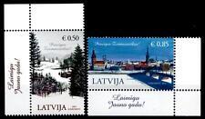 Weihnachten. Winterlandschaft, Riga. 2W. Eckrand (4). Lettland 2014