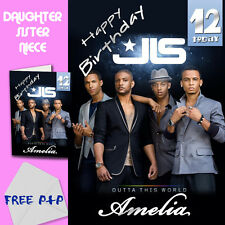 JLS - PERSONALISED Birthday Card Daughter Sister Niece