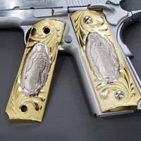 For Colt 1911 Grips Gold Virgin Mary Grips Full Size 1911 Government, Commander