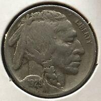 USA 1929 Buffalo Nickel 5 Cent Philadelphia Selten #12674