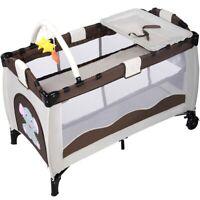 Baby Foldable Bed Infant Crib Portable Bassinet Newborn Playpen Nursery Table